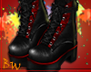 |BW| Black & Red Boots