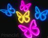 Glowing Butterflies Neon