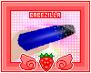 B | glitz nails. blue