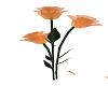 orange glass rose