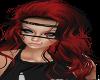 Red Black curls