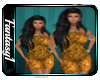 Flower Gold Dress