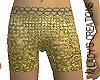 Gold link shorts