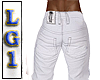 LG1 White Casual Jeans
