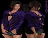 [LM]F Silk Shirt..Purple