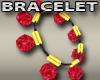 Red Ruby Ball Bracelet