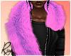 Violet Faux Fur Stole