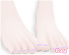 ♡ purple pedicure
