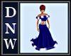 Blue Candy Xmas Dress