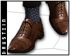 d| Brogues/Dots Socks