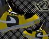 x2 Yellow black nike