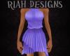 High Neck Purple Dress