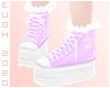 E - Purple Sneakers