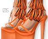 I│Fringed Heels Orange