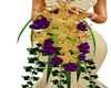 gold & purple flowers