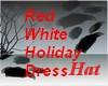 AO~Red White Dress Hat
