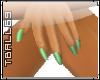 Mint Green Fingernails
