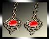 red Celtic earrings