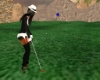 ANIMAT GOLF PUTT W/FLAG