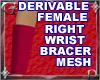 Fem Rgt Wrst Bracer Mesh