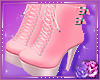 Pink Buckle Boots