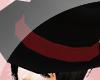 .t. Dark red hat~