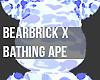 Bearbrick: Bape BlueCamo
