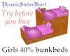 Girls 40% bunkbeds