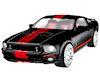 Hott Black Shelby GT500B