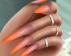 🧡 Orange Ombre Nails