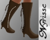 ~N~ Brown Boots w/Pearls