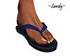 !S! Blue Flip Flops M