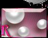 *R* White Pearls Sticker