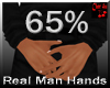 real man small hands 65%