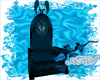 Teal Angel Wing Throne