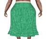 Polston Green Knit Skirt