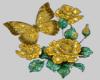 GoldRoseAndButterflies