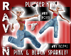 PINK BLK SPARKLY PLUNGER