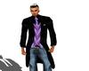 LXF Black/purple suit