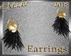 !a Sensia BlkGld Earring