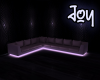[J] Lilac Neon Couch