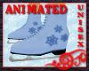 Skates - Blue Snowflakes