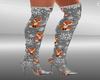 Knit fox boots xmas