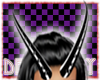 Blck/Whte Demon Horns
