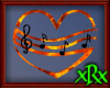 Music Note Heart Flame
