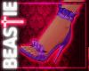 Frilly Stilettos Purple