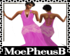 Slim Fuschia Lace Gown
