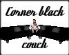 Corner Black Couch
