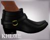 K black  gold boots M