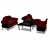 Red/Black sofa set